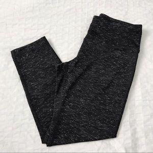 Grey speckled cropped leggings